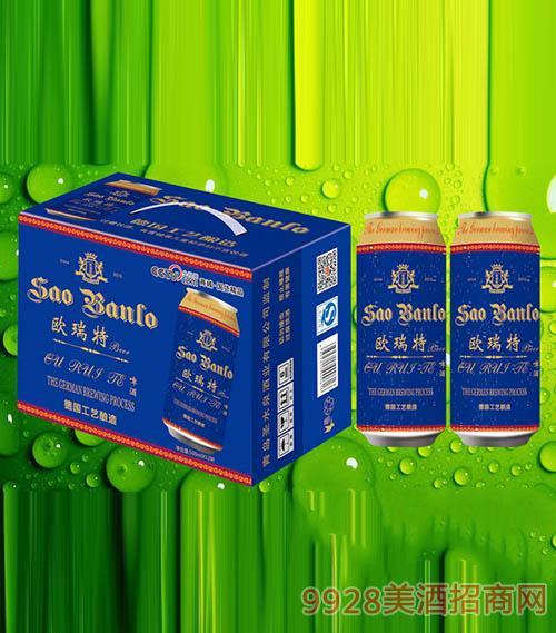 欧瑞特啤酒500ml×12听蓝罐