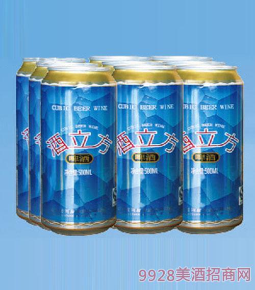 酒立方啤酒500ml(塑包)