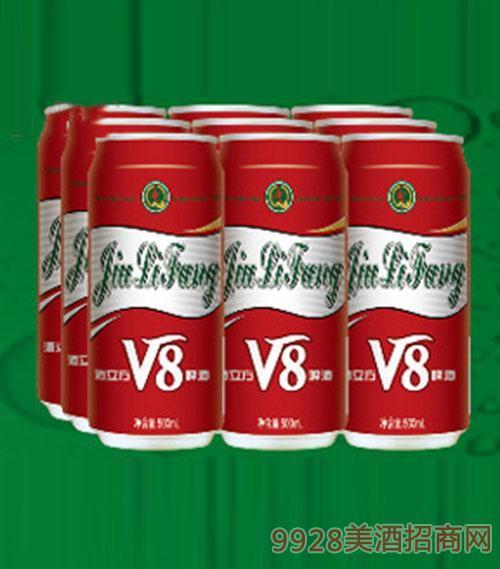 酒立方V8啤酒10°500ml×9