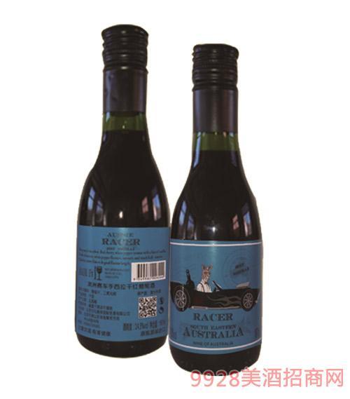 澳洲赛车手西拉干红葡萄酒蓝标
