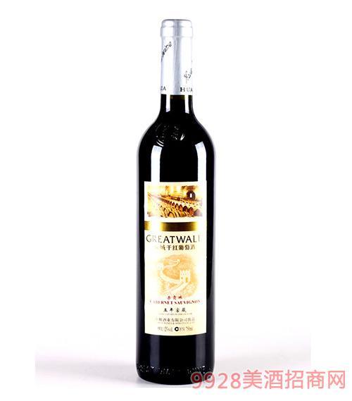 华夏长城五年窖藏干红葡萄酒
