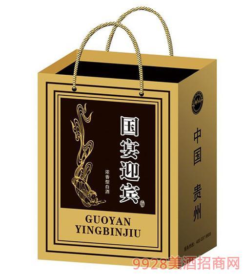 国 宴迎宾酒国尊浓香型42度500ml礼盒