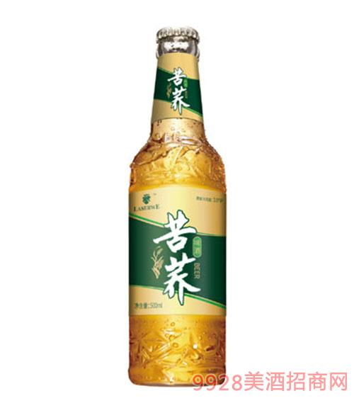 澜圣威苦荞啤酒500ml(瓶装)