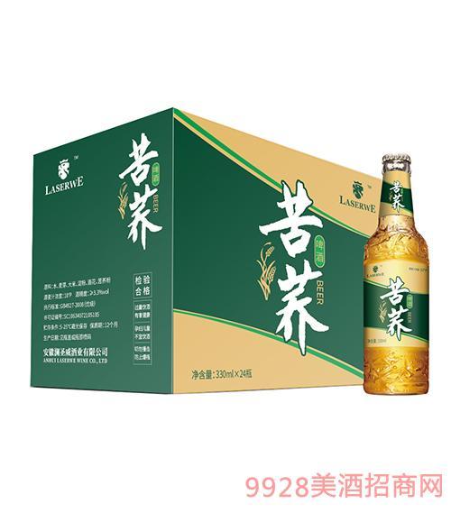 澜圣威苦荞啤酒330ml(瓶装)外包装