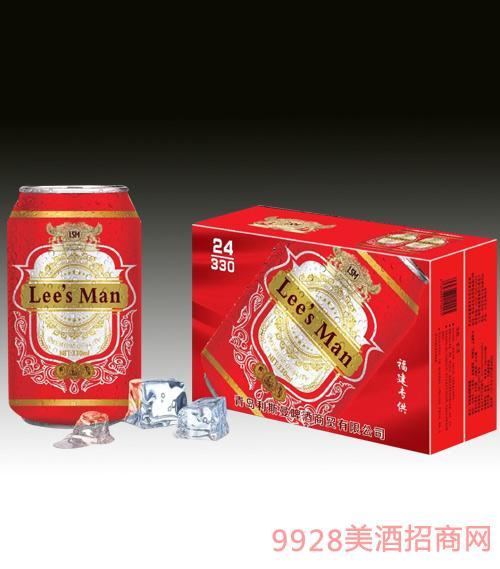 利斯曼啤酒(红罐)330mlx24