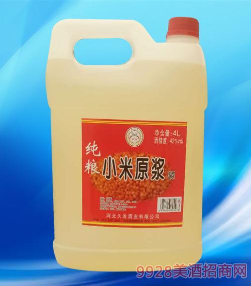 纯粮小米原浆酒42度4L