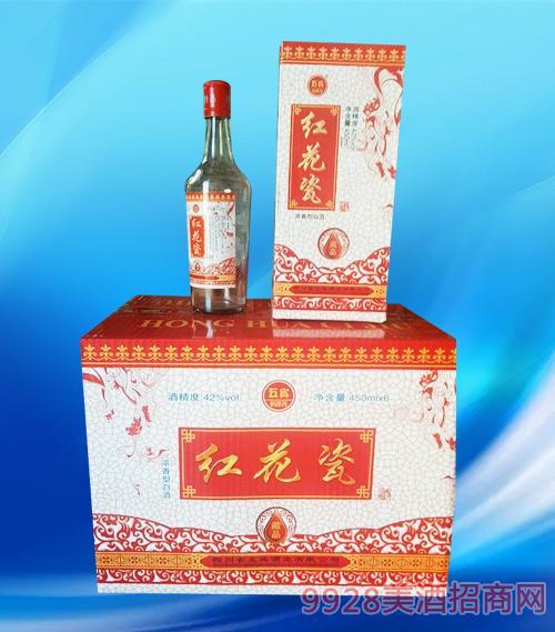 红花瓷酒藏品42度450mlx6