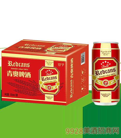 青奥原浆啤酒(红)320mlX24罐
