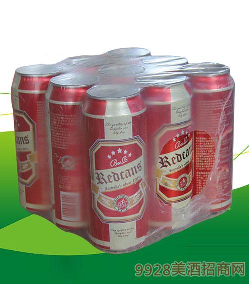 青奥原浆啤酒(红罐)500mlX9