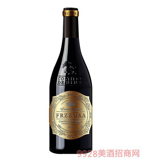 法兰风情珍藏干红葡萄酒14.5度750ml