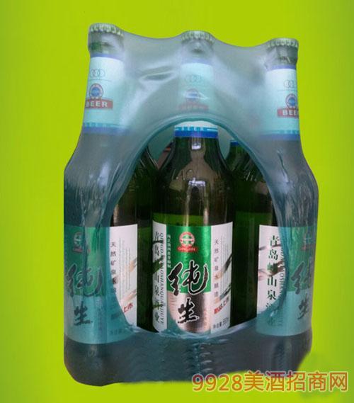 崂山泉啤酒塑包600ml
