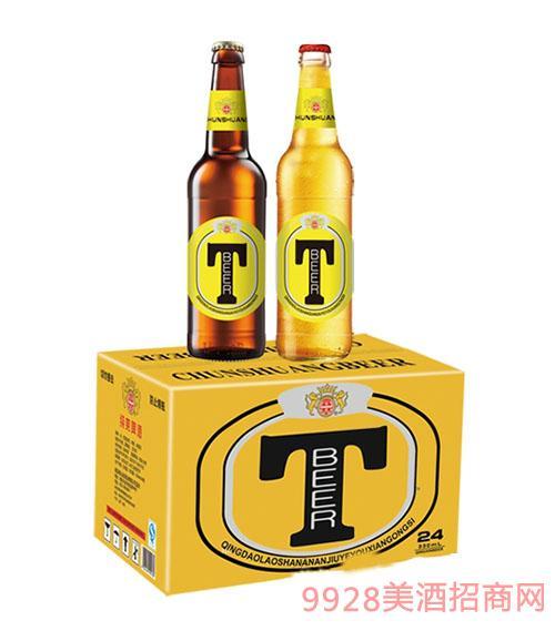 崂山泉啤酒330mlT牌1X24