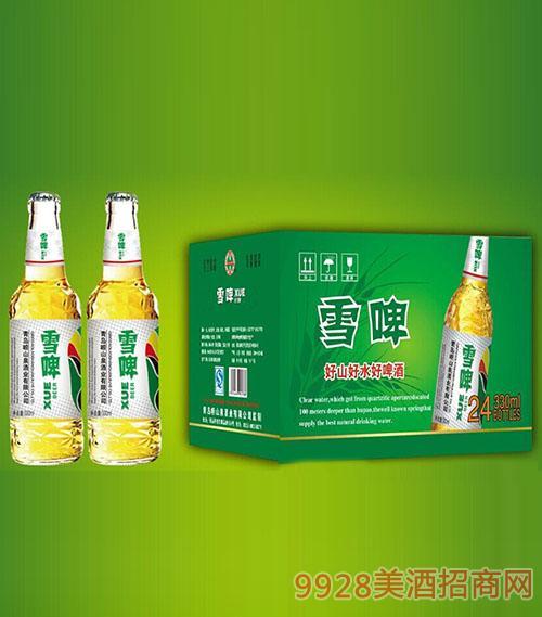 崂山泉啤酒330ml白瓶雪啤