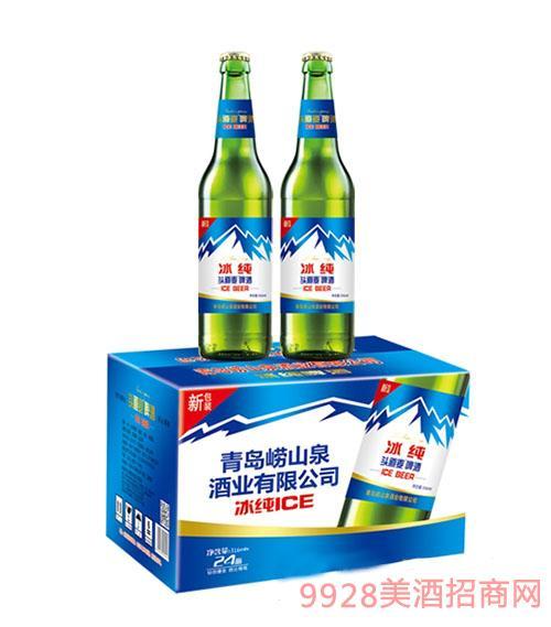 青岛崂山泉头道麦冰纯啤酒330ml