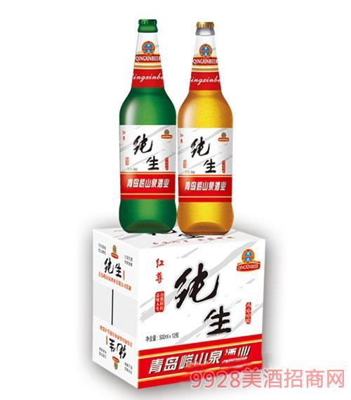 崂山泉纯生红尊啤酒500ml 1X12