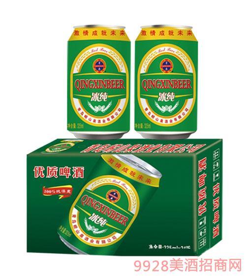 崂山泉冰纯啤酒325ml