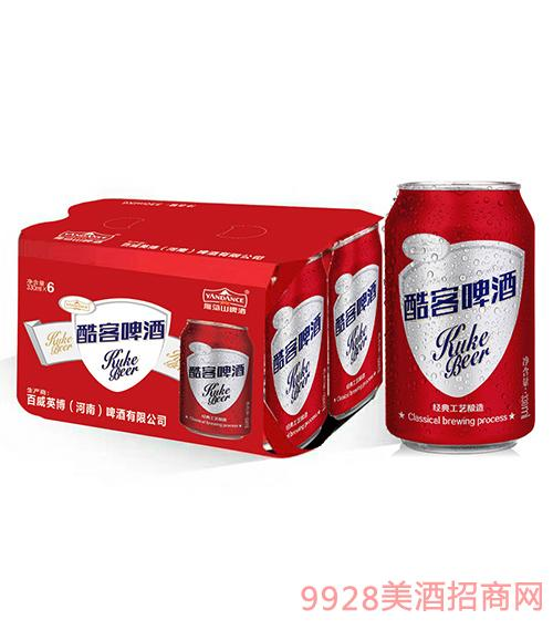百威英博雁荡山酷客啤酒330mlx6