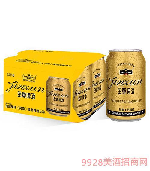 百威英博雁荡山金尊啤酒330mlx6