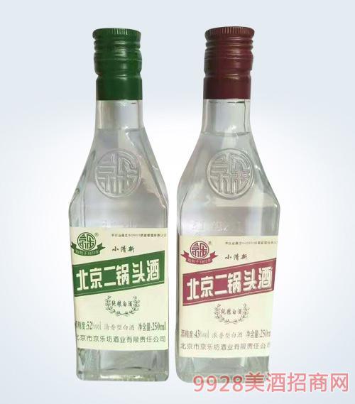 北京二锅头酒小清新52度43度250ml