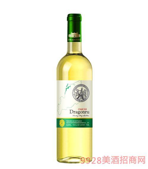 dragonru家族牌OAK318雷司令干白葡萄酒750ML