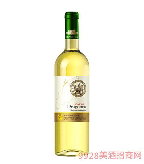dragonru家族牌OAK308莎当妮干白葡萄酒