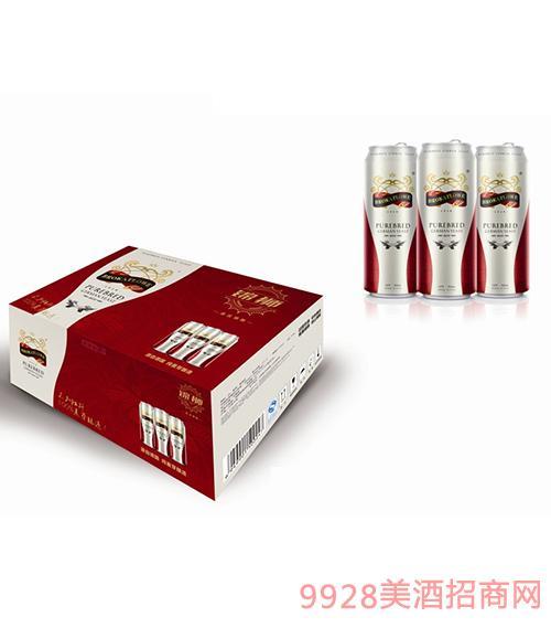 德国锦狮纯麦芽啤酒500MLx12罐