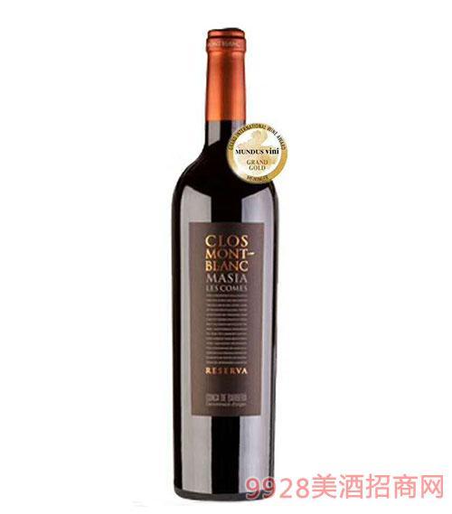 蒙特布朗玛西亚干红葡萄酒14.5度750ml