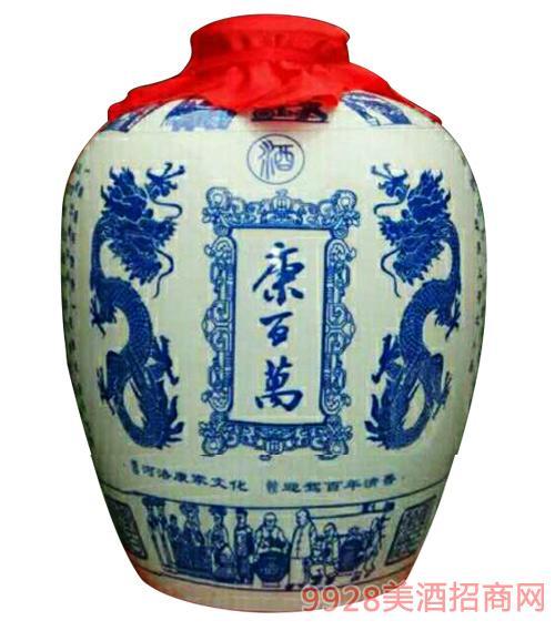 康百万封坛酒青花瓷浓香型50斤58度