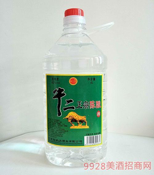牛二正宗陈酿酒42度4L桶装酒