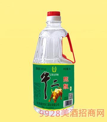 牛二陈酿酒42度2L