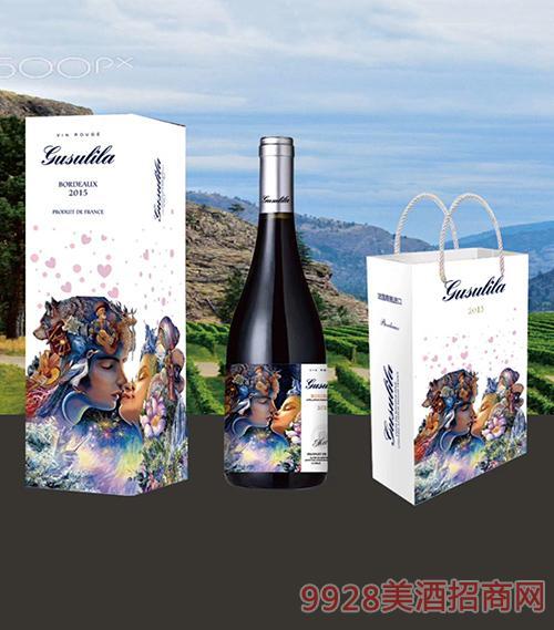 古苏里拉梦美人爱神典藏干红葡萄酒