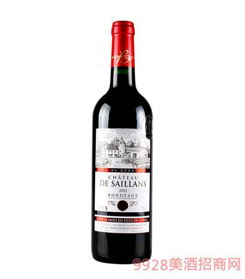 法国波尔多缔乐古堡窖藏红葡萄酒