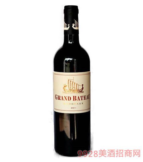 法国波尔多小龙船干红葡萄酒