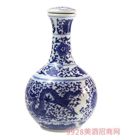 义门陈坛子酒龙瓶青瓷
