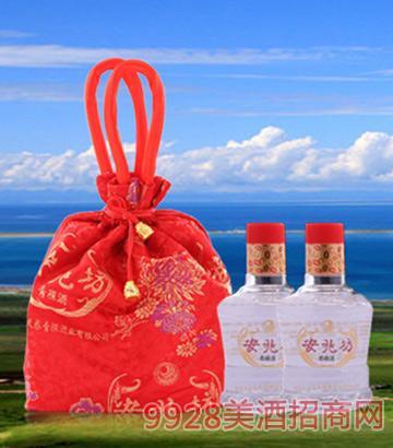 互助青稞酒双胞胎红布袋