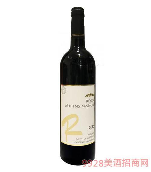 澳伦斯庄园岩石珍藏赤霞珠干红葡萄酒15.5度750ml