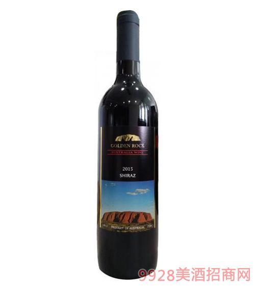 澳伦斯庄园黄金石黑牌设拉子干红葡萄酒14度750ml