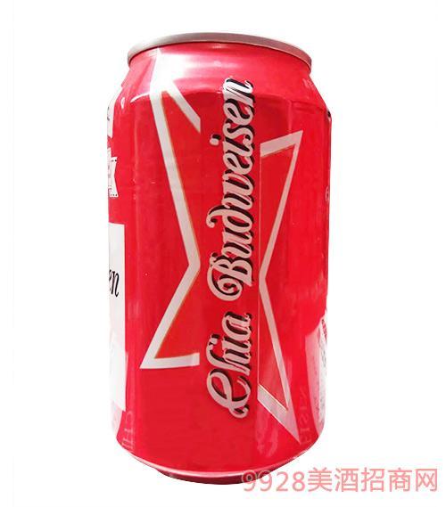 嘉百威啤酒红罐330ml×24罐