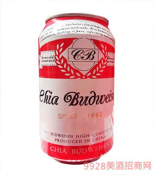 嘉百威啤酒银罐330ml×24罐