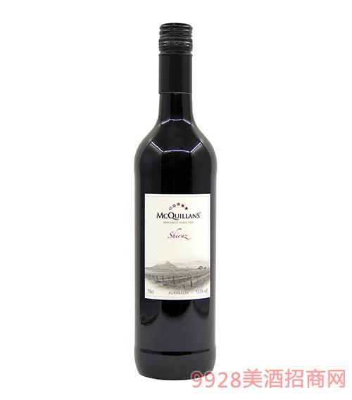 澳洲麦克奎蓝特选西拉干红葡萄酒