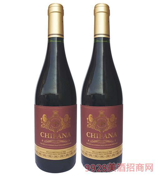 法���凡拉干�t葡萄酒750ml