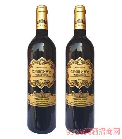 法国赛凡拉干红葡萄酒2013-750mlx6