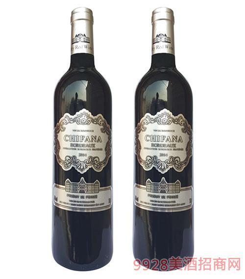 法国赛凡拉干红葡萄酒2014 750ml