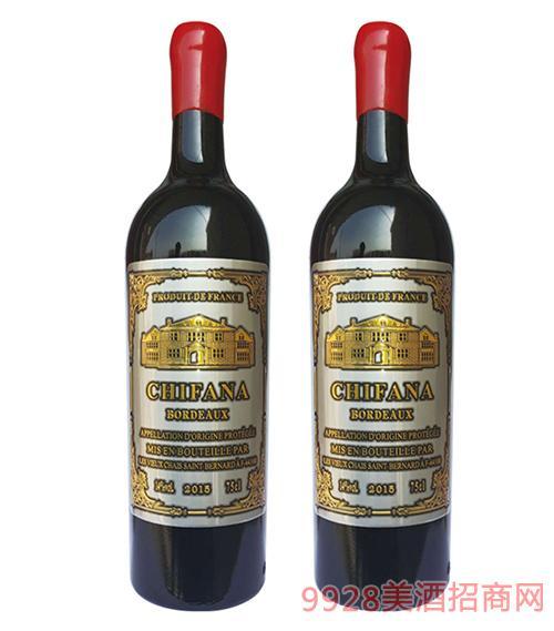 法���凡拉干�t葡萄酒金���14.5度750ml