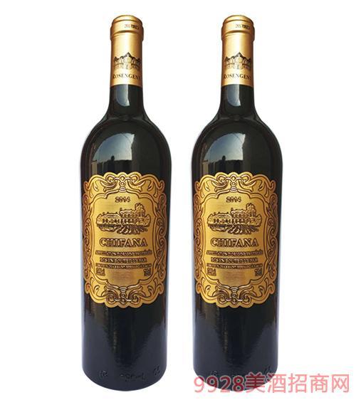 法���凡拉干�t葡萄酒金��13.5度750ml