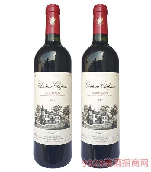 法国赛凡拉干红葡萄酒13度750ml