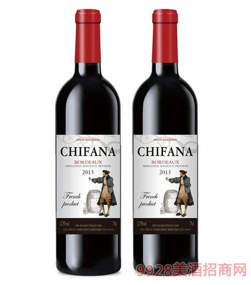 法国赛凡拉干红葡萄酒2013 12.5度750ml