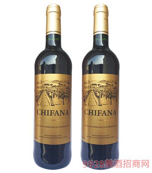 法国赛凡拉干红葡萄酒12度750ml