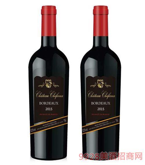 法国赛凡拉干红葡萄酒2015 12.5度750ml