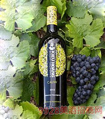 黄凯加丽赤霞珠红葡萄酒2012